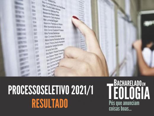 Resultado Processo Seletivo 1/2021